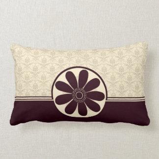 Elegant Burgundy Damask American MoJo Pillow