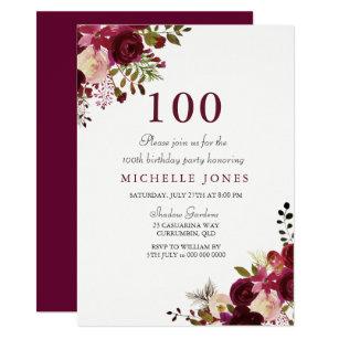 101st birthday invitations zazzle