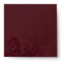 Elegant Burgundy Flourish Custom Envelope
