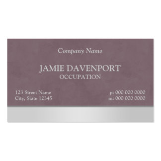 Elegant Burgundy Silver Pale Grey Sponged Business Card Template