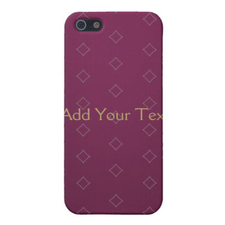Elegant Burgundy with Gold Text Case For iPhone 5