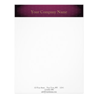 Elegant Burgundy with Gold Text Letterhead