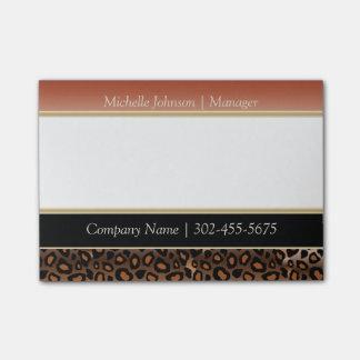 Elegant Burnt Orange and Black Jaguar Print Post-it® Notes