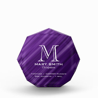 Elegant Business Abstract Lines Purple Acrylic Award