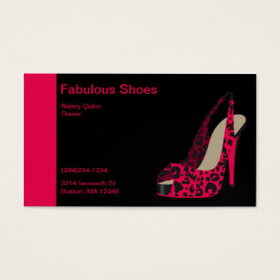 Shoe stores business cards templates zazzle elegant business card for womens shoe store reheart Image collections