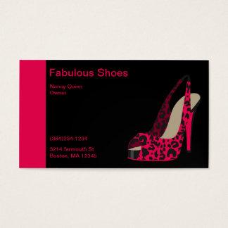 Elegant Business Card for Women's Shoe Store