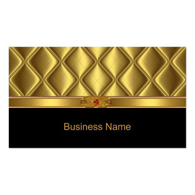 Elegant Business Card Gold Tile Trim Red Jewel Business Card Templates
