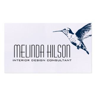 Elegant Business Card - Hummingbird