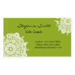 Elegant Business Card in Lime Green and White