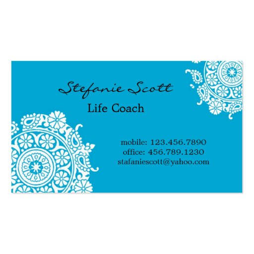 Elegant Business Card in Sky Blue and White
