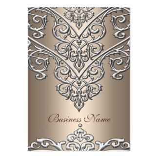 Elegant Business Card Metal  Look Coffee Overlay