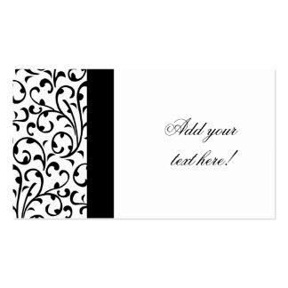 Elegant Business Card Modern Damask Pattern