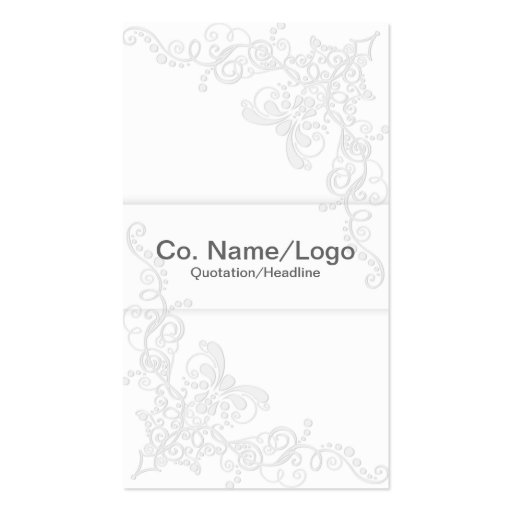 Elegant Business Card White and Gray