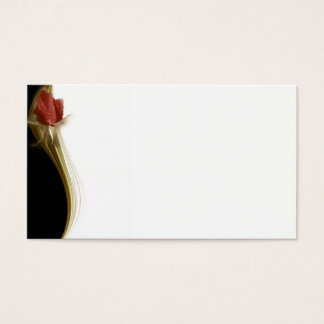 Elegant Business Card with Rose