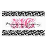 Elegant Business Cards Zebra Pink