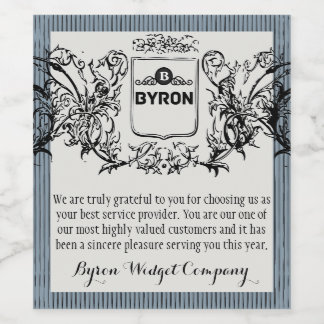 Elegant Business Customer Thank You Wine Label