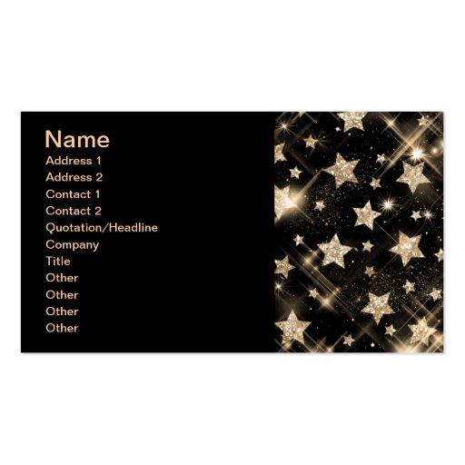 Elegant Business Gold Glitter Stars Business Cards