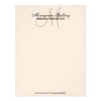 Elegant Business Letterhead Speckled Paper
