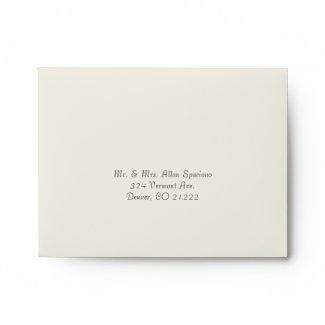 Elegant Butter Cream Wedding RSVP Envelope