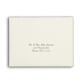 Elegant Butter Cream Wedding RSVP Envelope