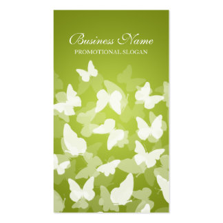 Elegant Butterflies Lime Green Professional Business Cards