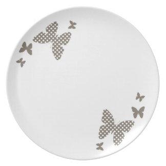 Elegant butterflies party plate