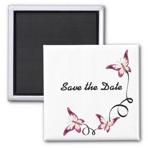 elegant butterflies Save the Date Fridge Magnet