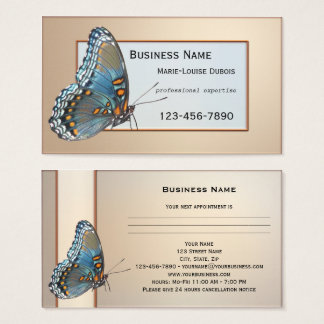 Elegant Butterfly Appointment Business Card