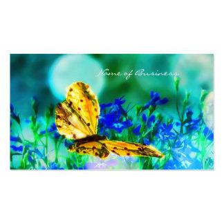 Elegant Butterfly Blue Flower Garden Business Card