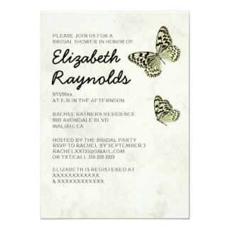 Elegant Butterfly Bridal Shower Invitations Invite