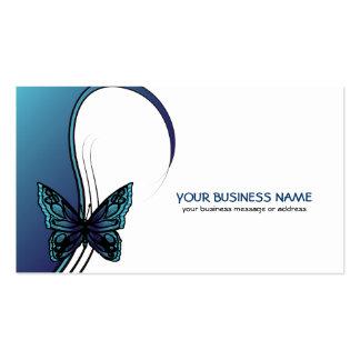 elegant butterfly business card in blue