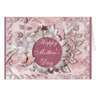 Elegant Butterfly Floral Gem Mother's Day Card
