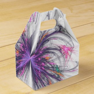 Elegant Butterfly Fractal Design Box Favor Boxes