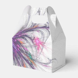 Elegant Butterfly Fractal Design Box Favor Boxes