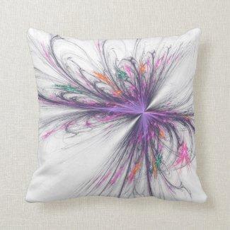 Elegant Butterfly Fractal Mojo Pillow
