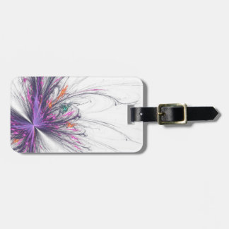 Elegant Butterfly Fractal Personalized Luggage Tag