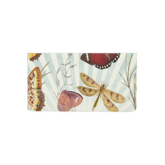 Elegant Butterfly Pattern Checkbook Cover