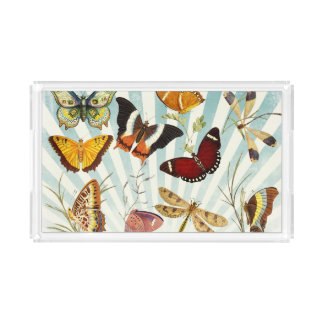 Elegant Butterfly Pattern Serving Tray