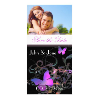 """Elegant Butterfly  /photo  """"Save the Date"""" Photo Card Template"""
