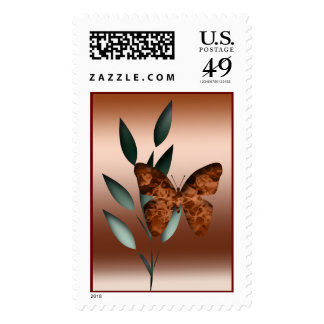 Elegant Butterfly Postage Stamp