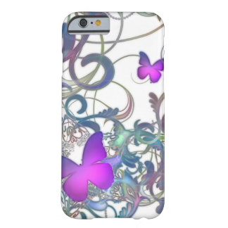 Elegant Butterfly Swirl Barely There iPhone 6 Case