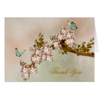 Elegant Butterfly Thank You Card