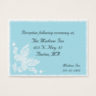 Elegant butterfly Wedding enclosure cards