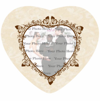 Elegant Butterfly Wedding Photo Frame Cut Outs