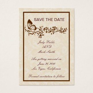 Elegant Butterfly Wedding Save The Date Card