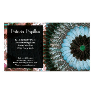 Elegant Butterfly Wing Business Card Aqua Art Deco