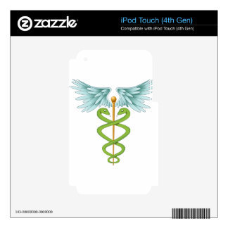 Elegant Caduceus Skins For iPod Touch 4G