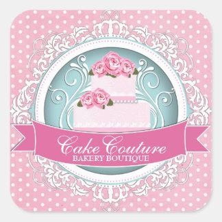 Elegant Cake Box Stickers