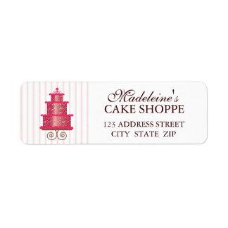 Elegant Cake Custom Bakery Business Address Label