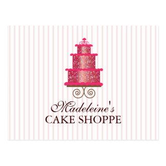 Elegant  Cake Custom Bakery Business Postcard